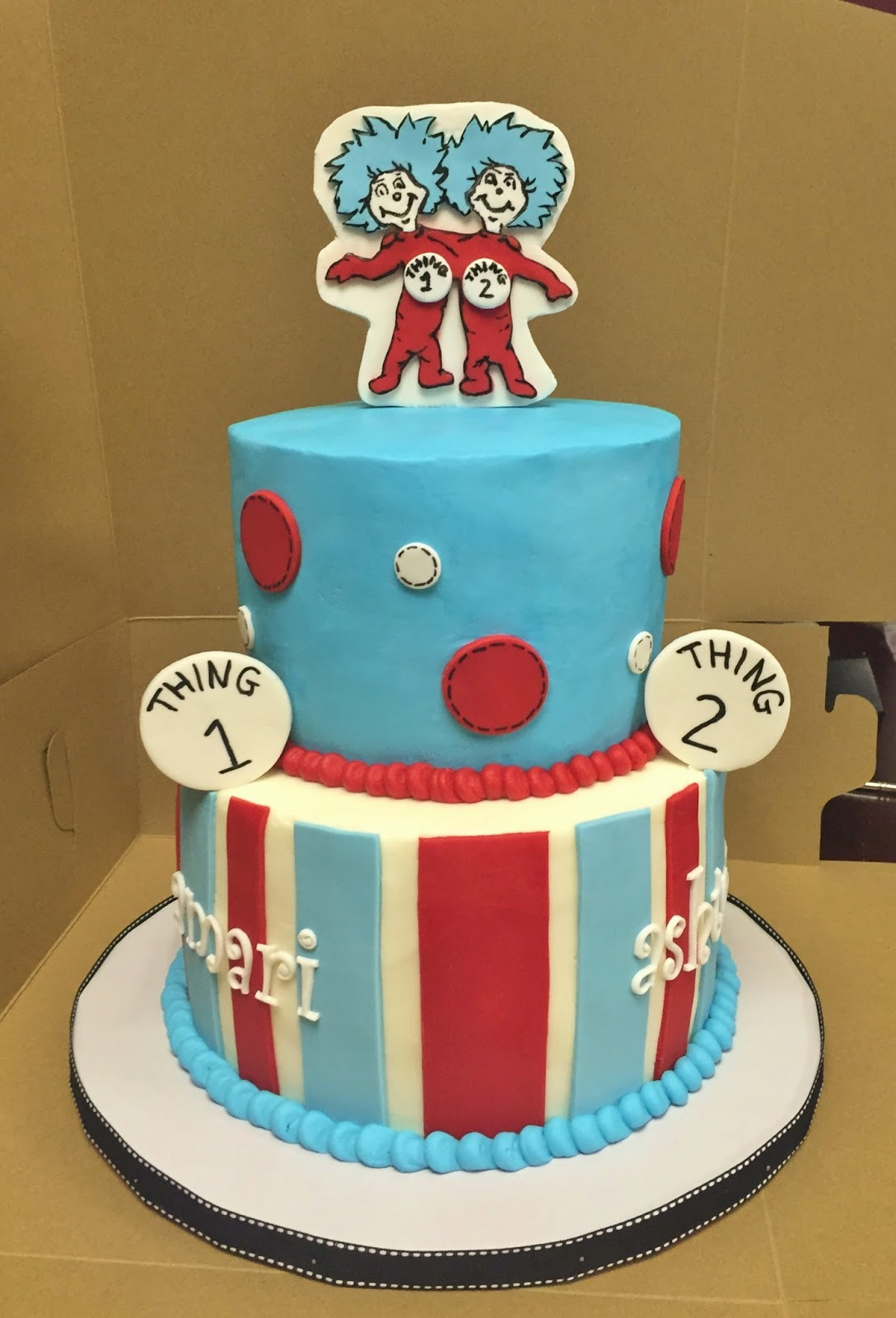 Cakes By Mindy Dr Seuss Thing 1 And Thing 2 Cake 6 8