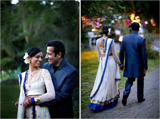 Pareja de novios en su boda hindú