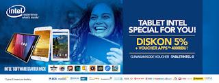 Tablet Intel Diskon 5% di Blibli.com