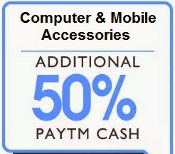 Flat 50% Extra Cashback on Computer Accessories (Speakers, Headphones, Power Banks, Data Cards, Bluetooth Headsets, Graphics Cards) @ Paytm