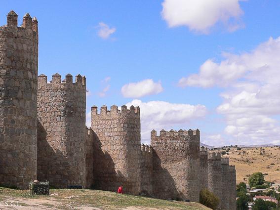 Las murallas de Avila. Visitando Castilla y Leon