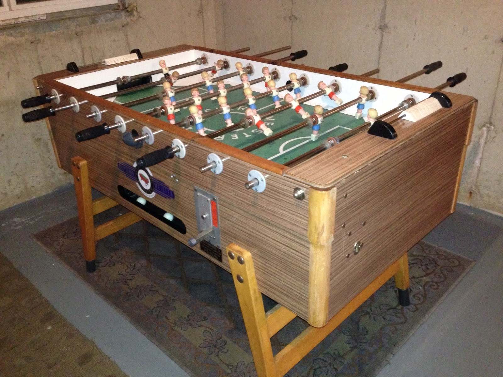 Going Underground The Foosball Table Restoration All Apple - Premier soccer foosball table