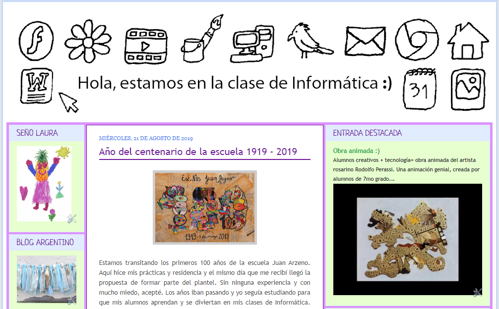 El blog de Informática de los alumnos de la seño Laura ¡VISITALO!