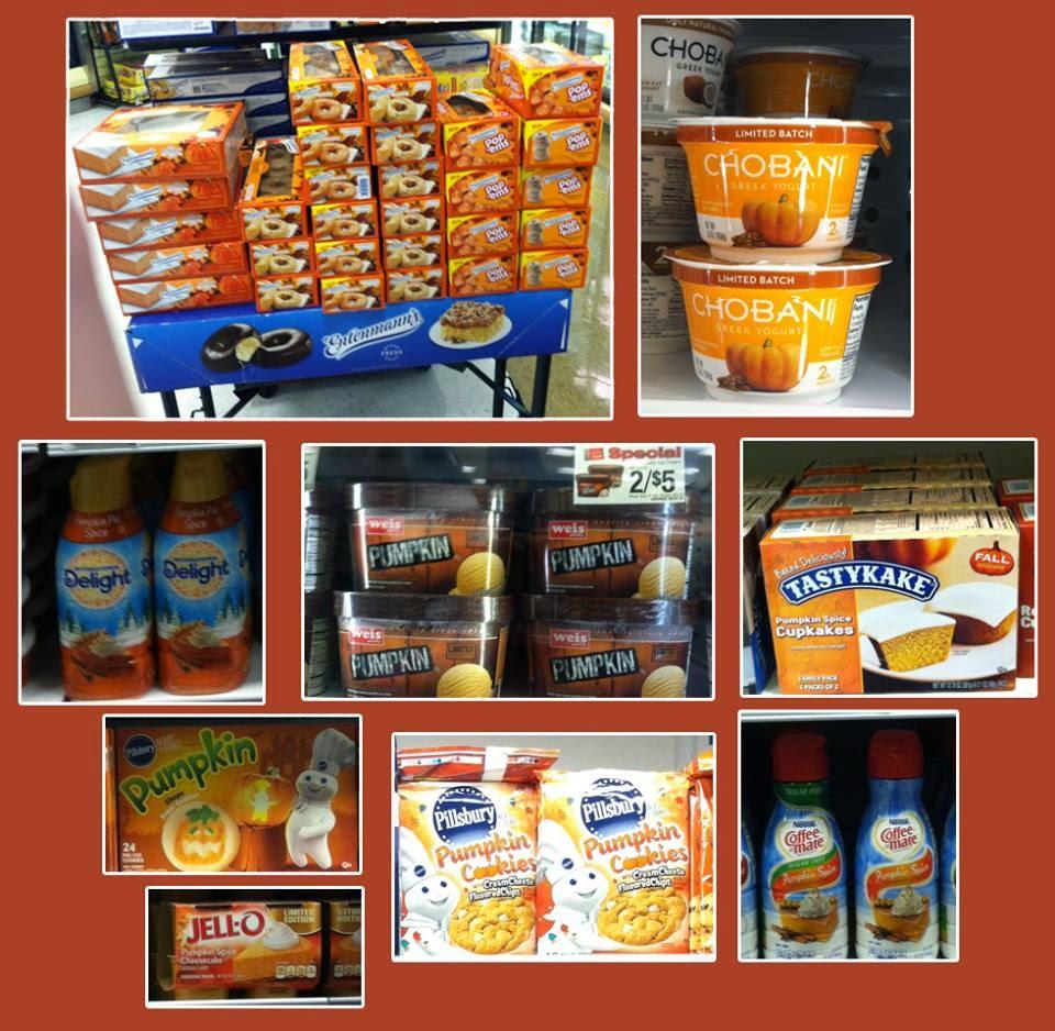 ... pumpkin-flavored Entenmann's products, Chobani yogurt, coffee creamer