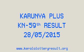 Karunya Plus KN 59 Lottery Result 28-5-2015