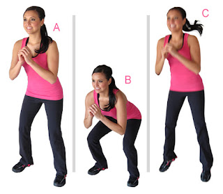 Squat Jumps to Get Rid of Buttocks Cellulite