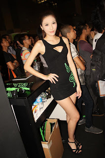 Li Xiao Xing Taiwan Sexy Model Sexy Black Dress Advertise Kingston Game 6