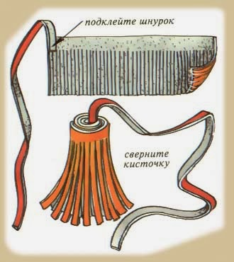 Как сделать из кожи кисточку