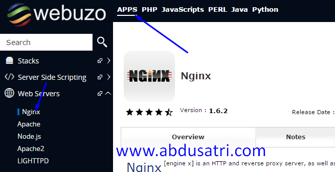 cara ganti webserver Aphace Nginx