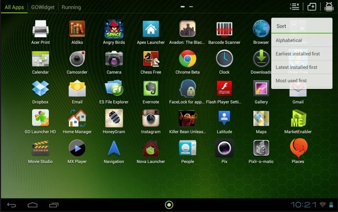 aplikasi home launcher di android