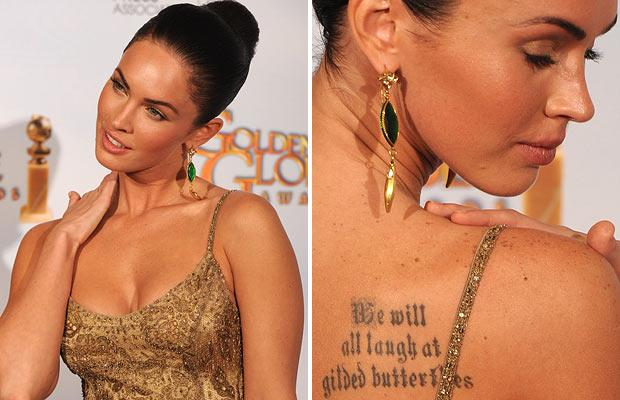 tattoo quotes on ribs. megan fox tattoos rib.