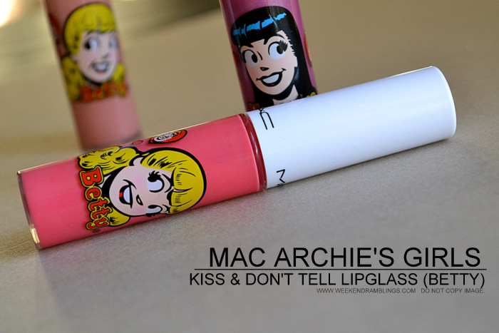 MAC Kiss And Dont Tell Lipglass Spring Summer 2013 Archies Girls Makeup Collection Review Photos Ingredients Swatches FOTD