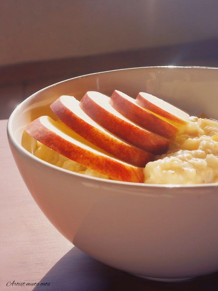 jaglanka, kasza jaglana, jabłko i rodzynki