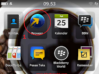 Cara Setting Privat Browsing di Blackberry OS 10