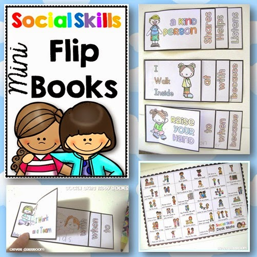 Social Skills Mini Flippy Books  Developing desired expectations both at the beginning of the year and throughout is a vital foundation in any classroom.