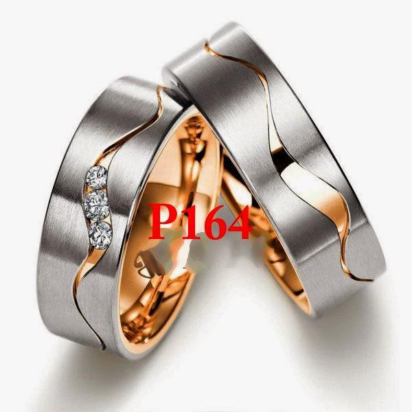 Model cincin nikah emas lapis perak palladium couple paling bagus