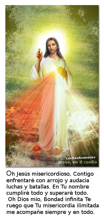 divinamisericordia con oracion de santa faustina