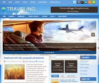 Traveling Responsive Blogger Template