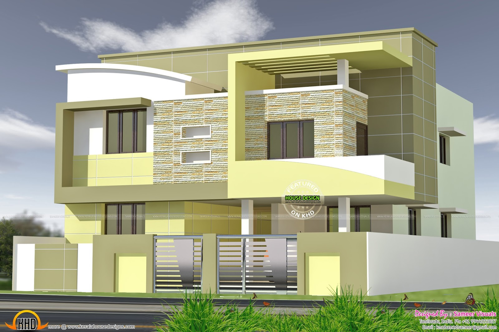 275 Sq M Modern House Plan Kerala Home Design And Floor