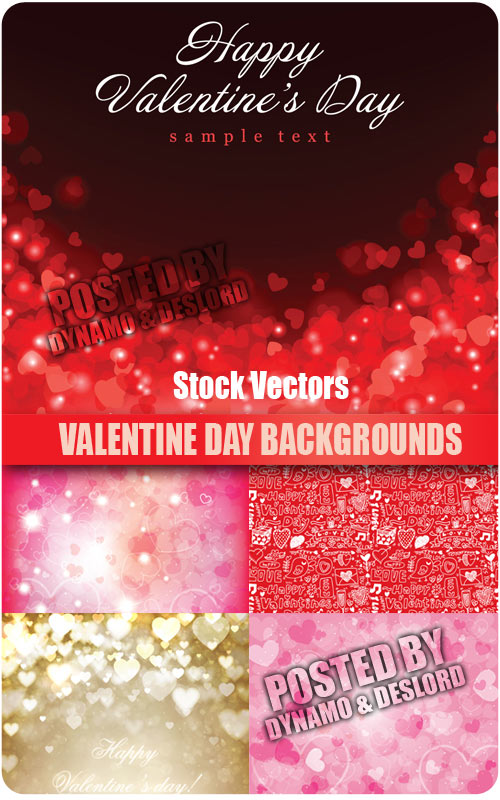 Valentines Day Background - Stock Vectors