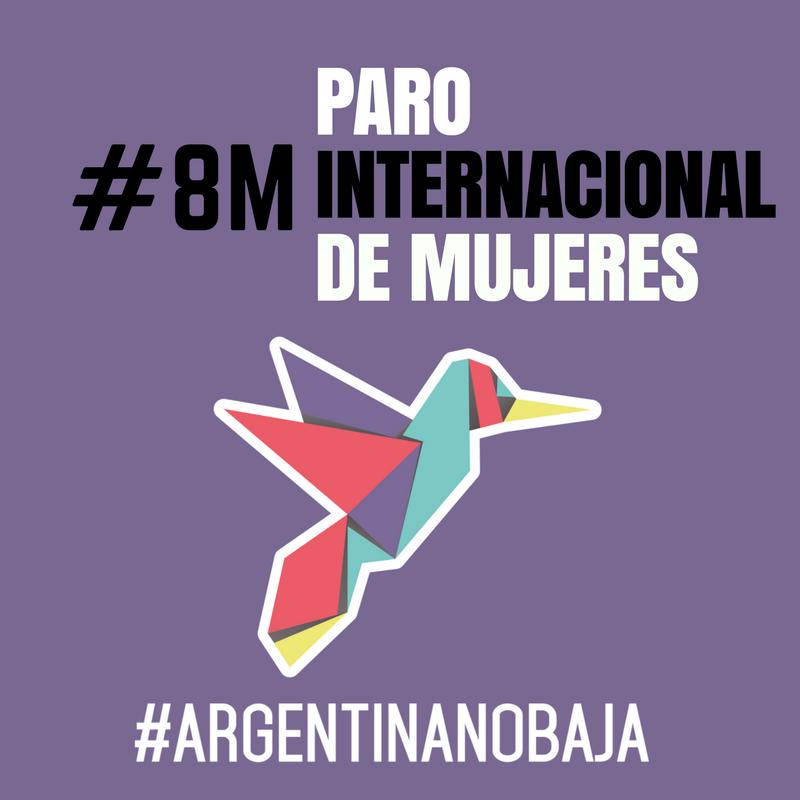 La Red Argentina No Baja Adhiere al Paro Internacional de Mujeres