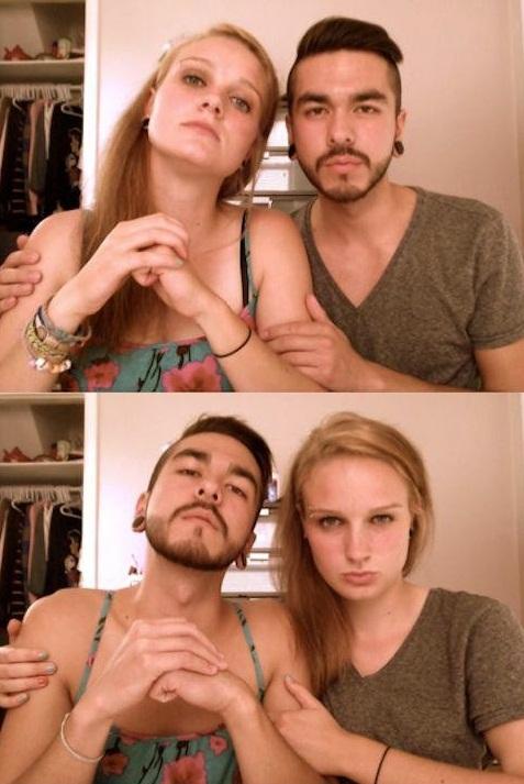 Cute Boyfriend & Girlfriend Couple..OH WAIT?