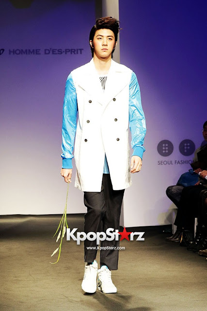 MBLAQ Thunder modeling at Seoul Fashion Week 121022