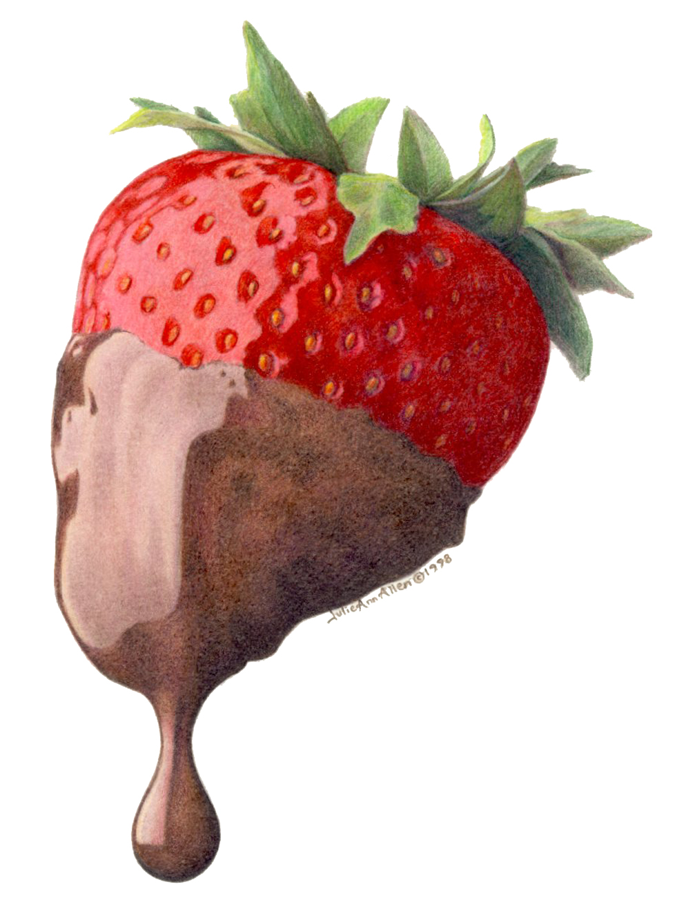 chocolate strawberry: