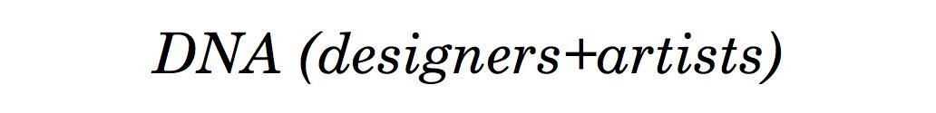 DNA (designers+artists)