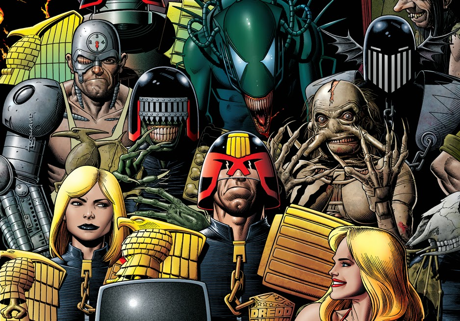Judge Dredd Megazine #350 Cover by Brian Bolland