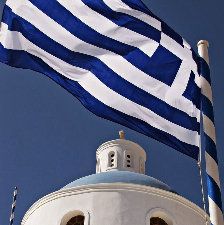 Greek Flag... Blue and White...