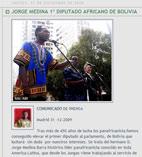 JORGE MEDINA 1º DIPUTADO AFRICANO DE BOLIVIA