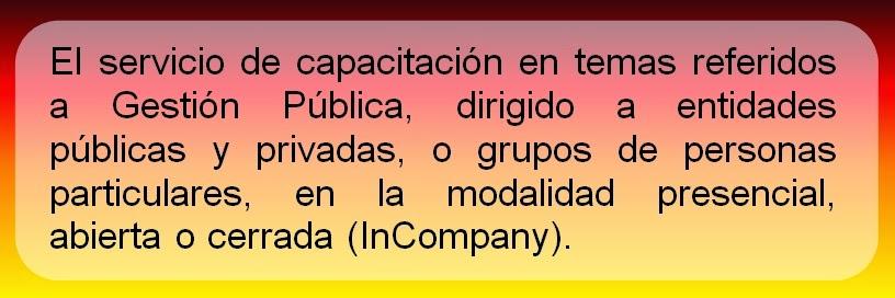 CAPACITACION EN GESTION PUBLICA