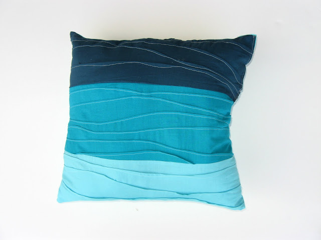 Pintuck Wave Pillow via Show Tell Share