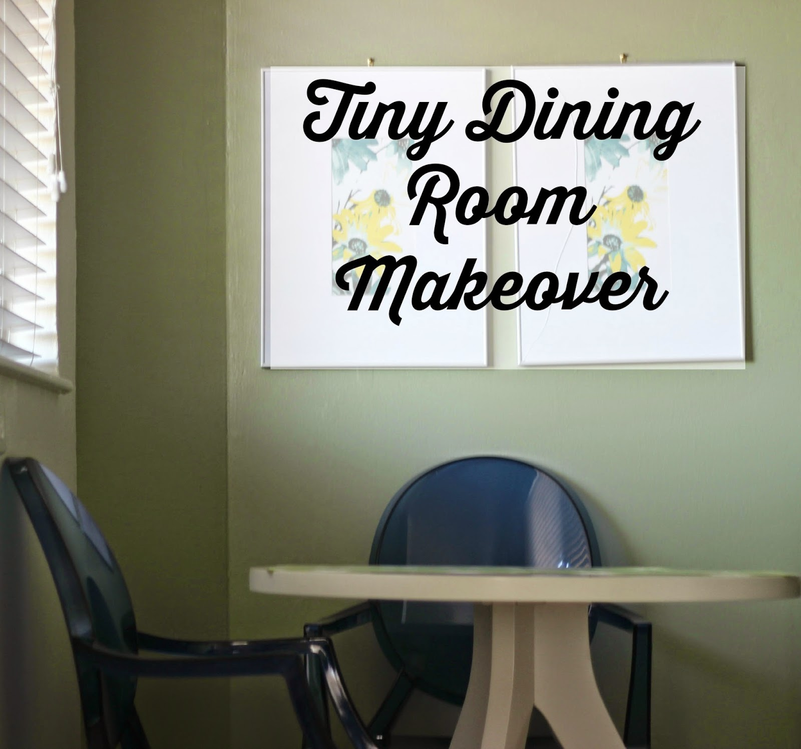 Tiny Bright Modern Dining Room Redecoration
