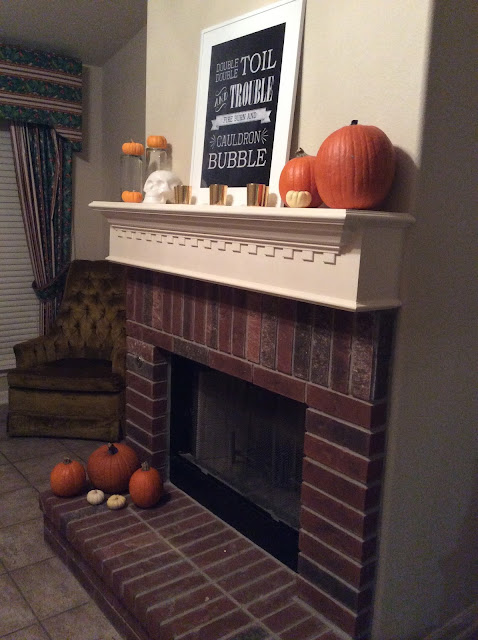 Small Town Sisters Halloween Mantle Home Decor