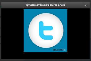 Twitter profile image 500x500 pixels