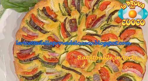 Ratatouille in torta ricetta Cattelani da La Prova del Cuoco