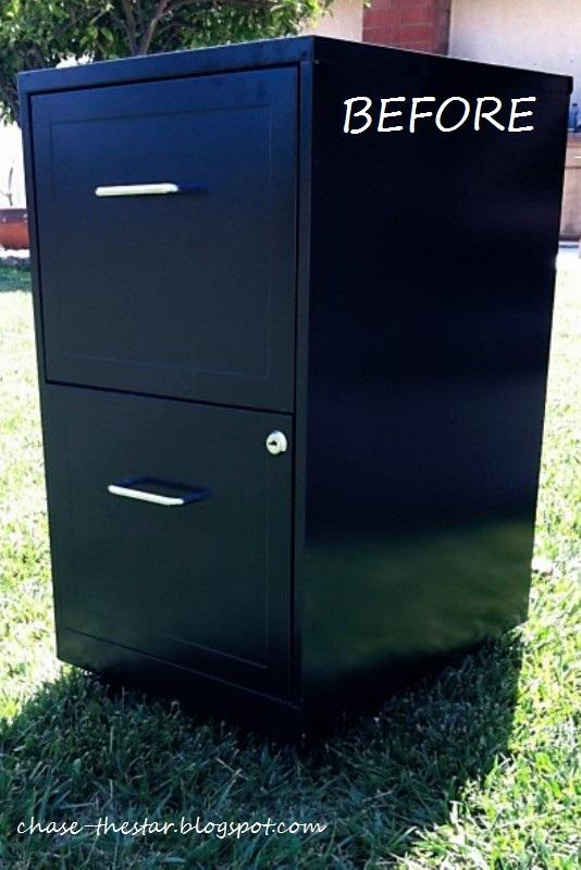 file cabinet makeover hello life. Black Bedroom Furniture Sets. Home Design Ideas