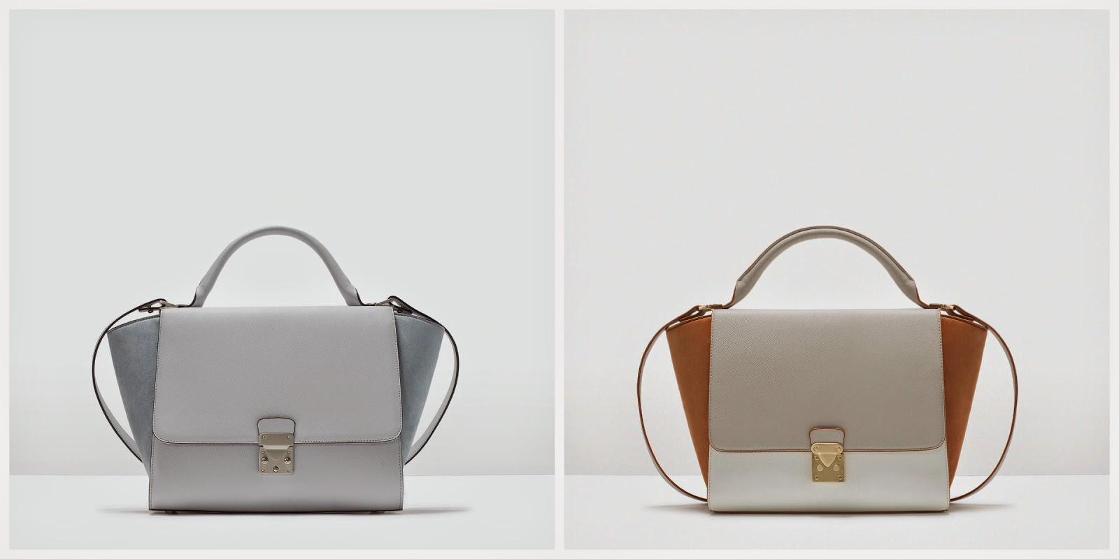Zara clona el bolso Trapeze de Céline. Bolso Tricolor Celine. Céline Tricolor Trapeze