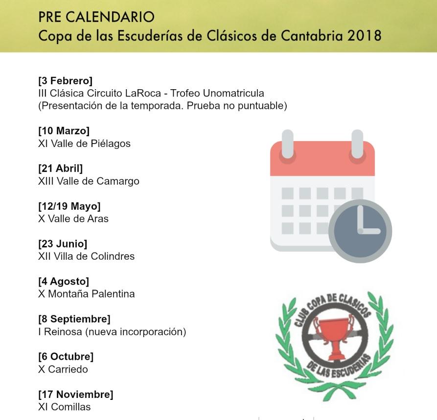 PRE CALENDARIO 2018