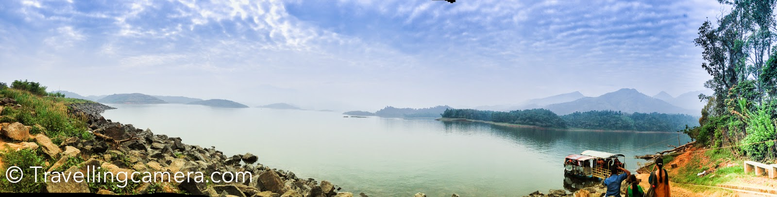 Another view of the place around Banasura sagar dam, from where speedboats take you to the tour of this lake.