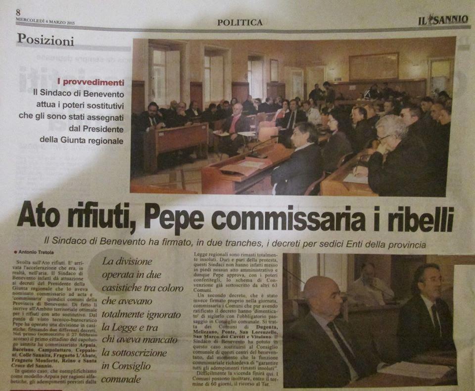 Foto Il Sannio quotidiano 4 marzo 2015  --- Fuori dal Comune - Ponte