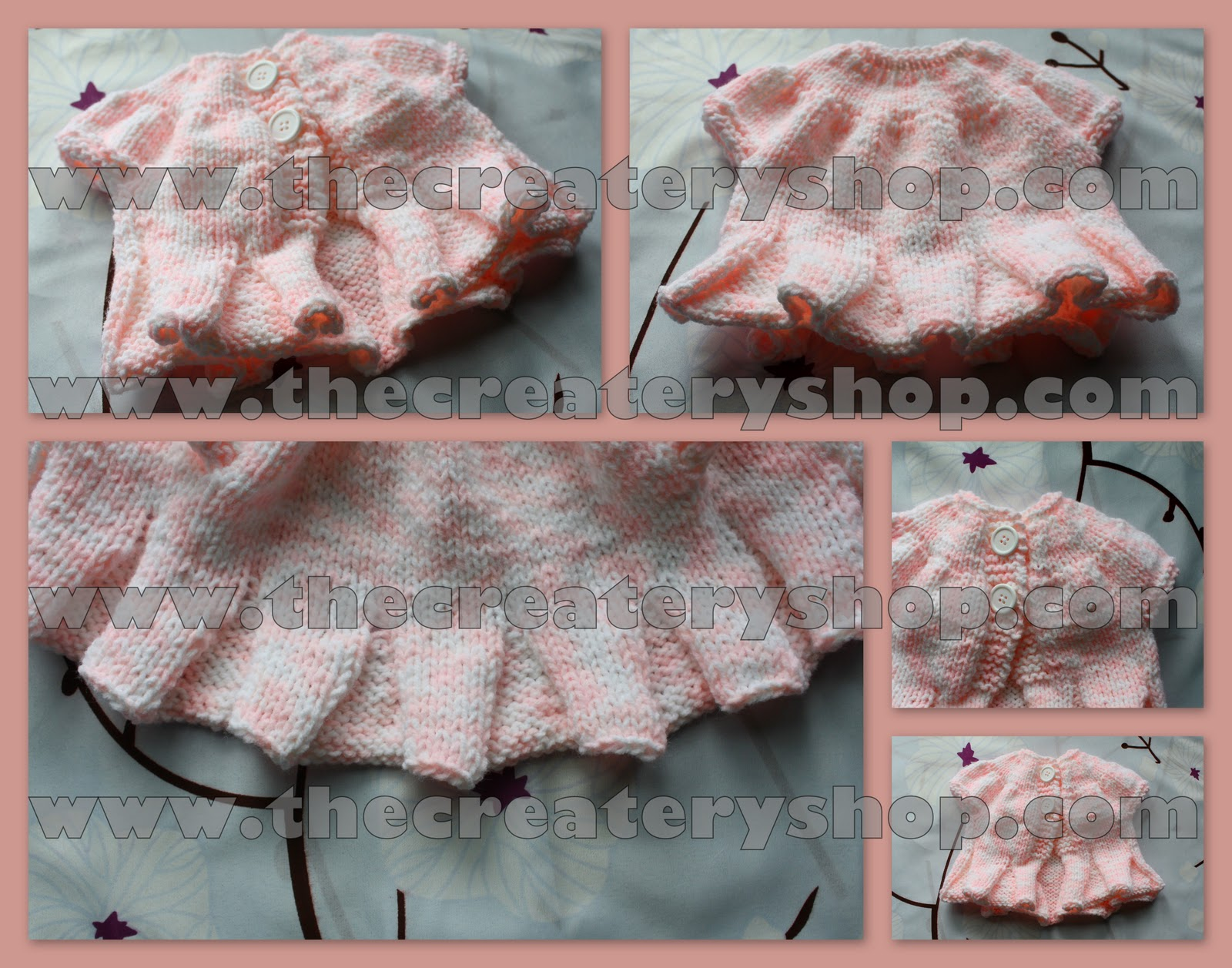 The Createry Shop: Pretty Belle Pleated Ruffle Baby Sweater Knitting ...