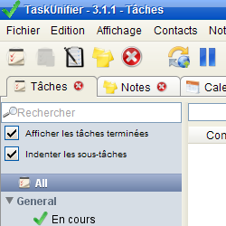 capture d'écran de TaskUnifier
