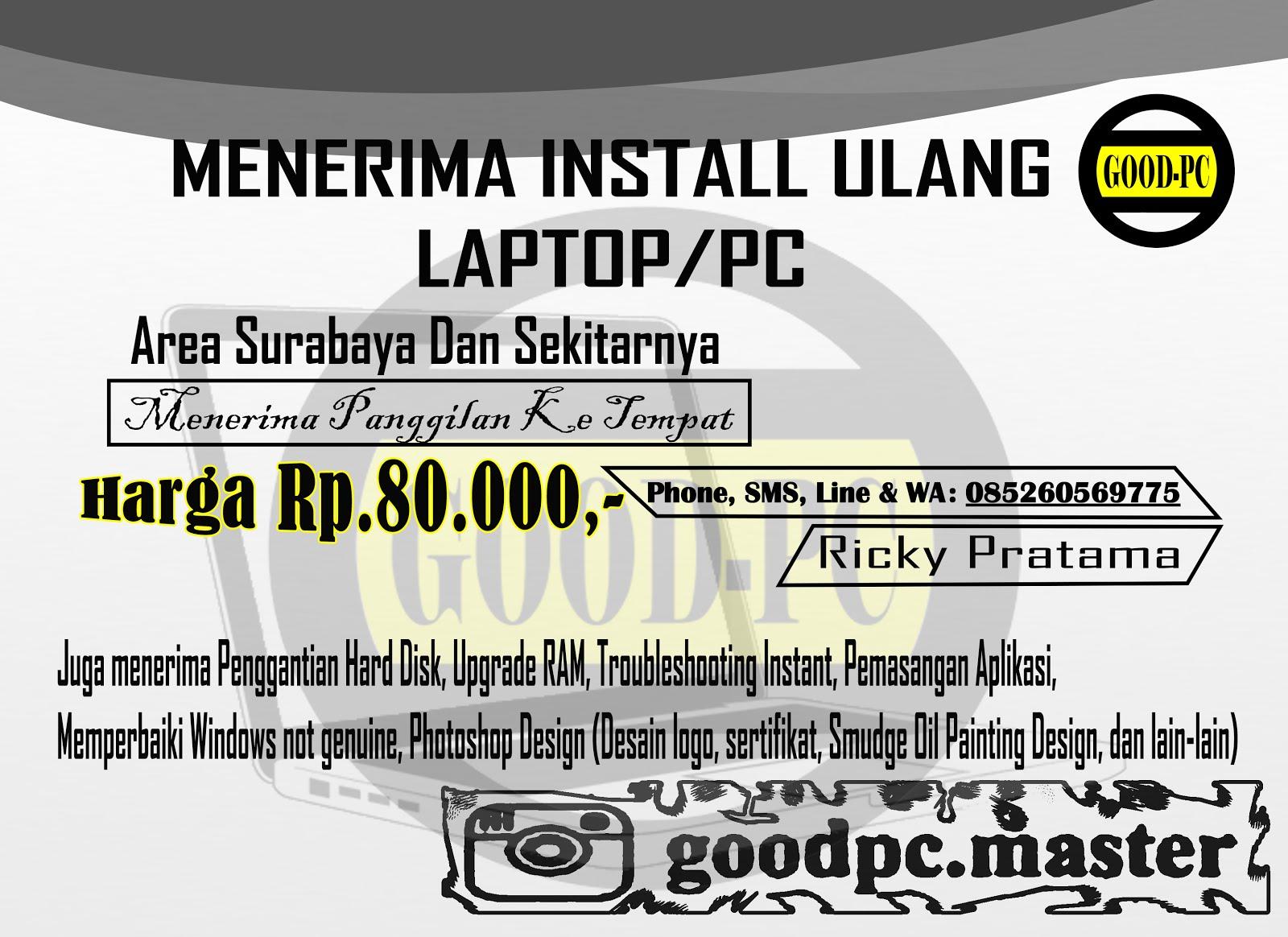 Install ulang Laptop Surabaya