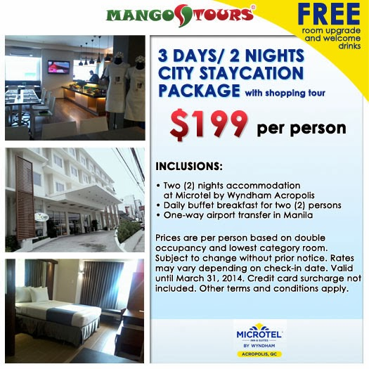 Mango Tours Microtel by Wyndham Acropolis Package