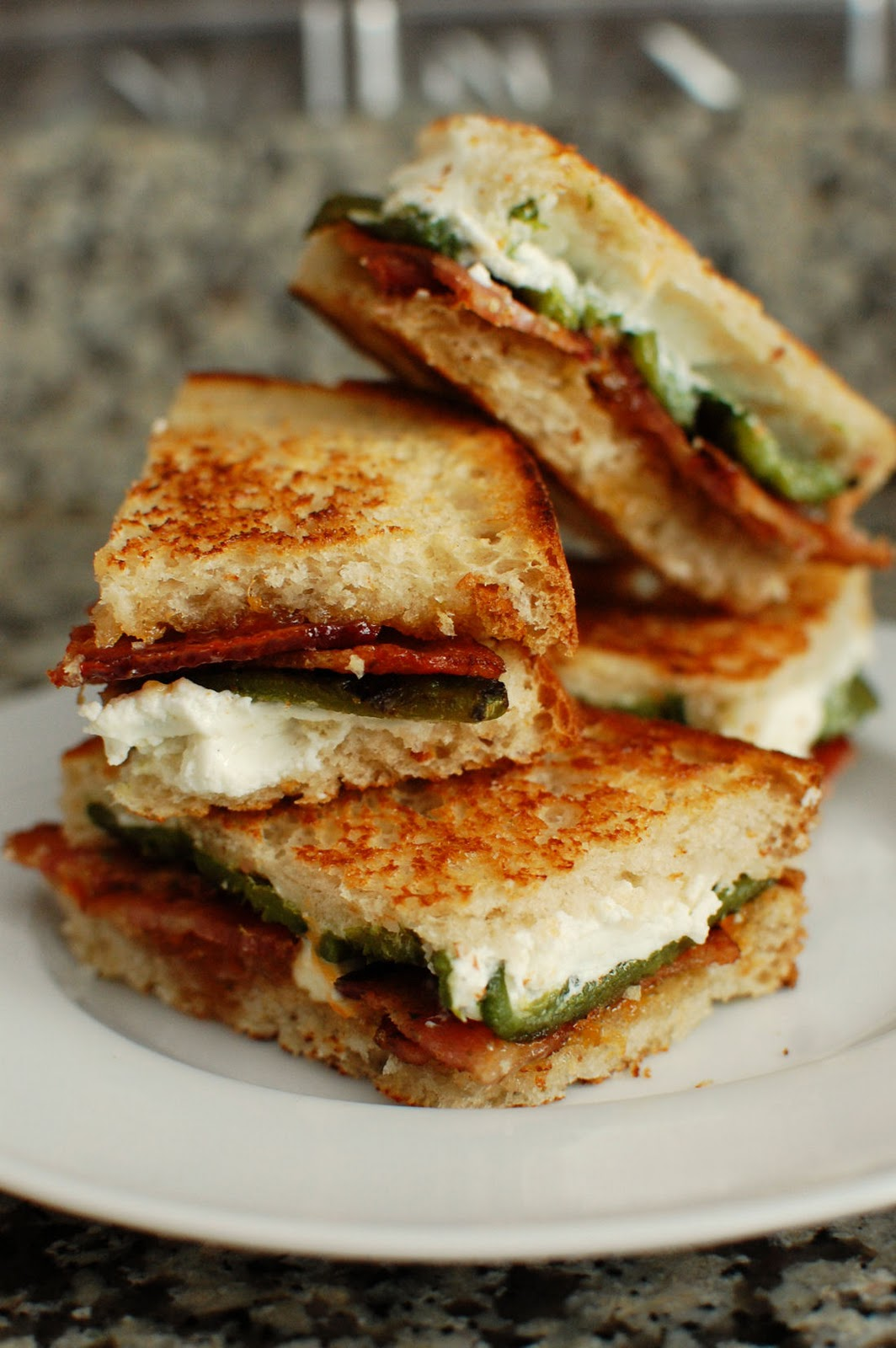 Jalapeno Popper Inspired Grilled Cheese | Beantown Baker