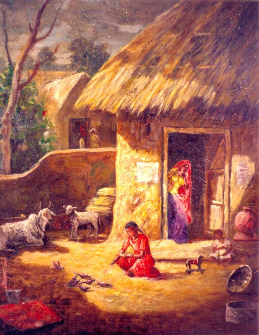 Indian villages life paintings - 180.1KB
