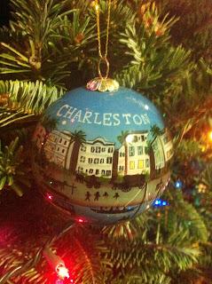 hand-painted charleston ornament